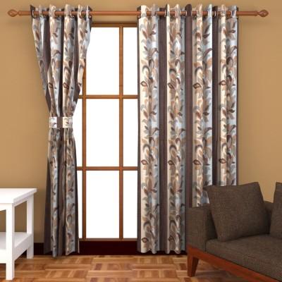 BSB Trendz Polyester Multicolor Plain Eyelet Window & Door Curtain