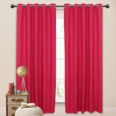 Elan Cotton Pink Solid Eyelet Window Curtain