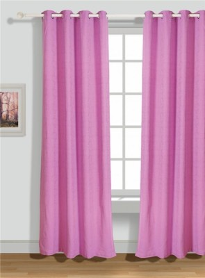 House This Cotton Purple Embroidered Eyelet Door Curtain