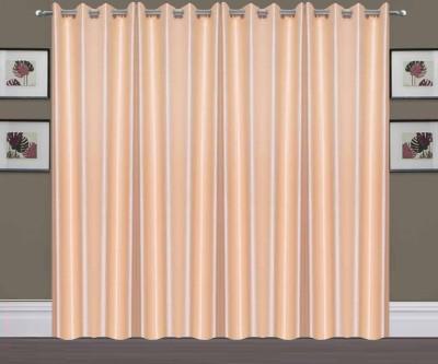 Thiwas Polyester Cream Plain Eyelet Long Door Curtain