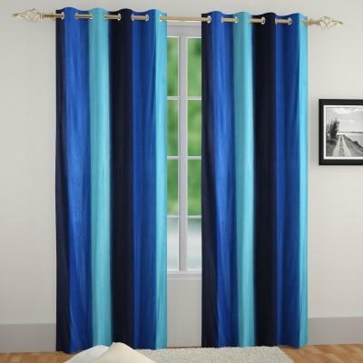 Muren Polyester Multicolor Self Design Eyelet Door Curtain
