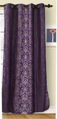 Azaan Decor Polyester Multicolor Abstract Eyelet Door Curtain