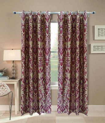Ech Oly Polyester Multicolor Solid Eyelet Window & Door Curtain