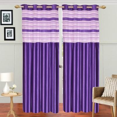 Dreamshomes Polyester Purple Solid Rod pocket Door Curtain