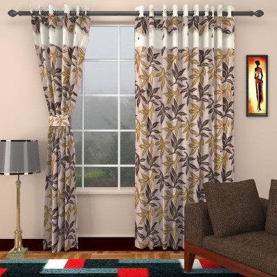 BSE Polyester Multicolor Printed Eyelet Window & Door Curtain