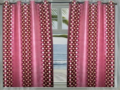 JBG Home Store Polyester Pink Solid Eyelet Door Curtain