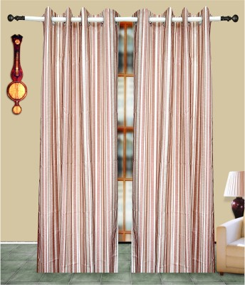 J&J Polyester Maroon Printed Eyelet Window & Door Curtain