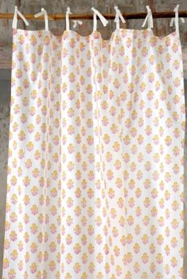 Ocean Homestore Cotton White Printed Curtain Door Curtain