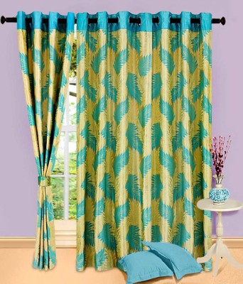 Swastik Polyester Multicolor Abstract Eyelet Door Curtain