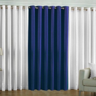 Qualityfab Polyester Multicolor Plain Eyelet Door Curtain