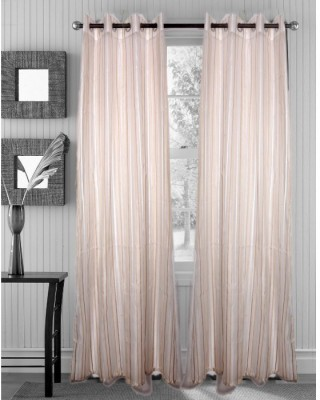 Handloomhub Polyester White Solid Eyelet Door Curtain