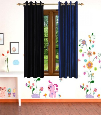 Shop Since Polyester Multicolor Solid Eyelet Window Curtain