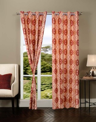 Shopgrab Polyester Multicolor Geometric Eyelet Door Curtain