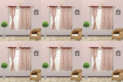I Catch Blends Red Floral Curtain Window Curtain