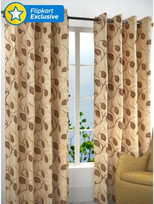 Zesture Polyester Multicolor Paisley Eyelet Door Curtain