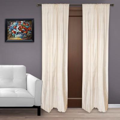 Marmitte Silk Beige Plain Rod pocket Door Curtain