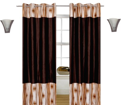 Shopcrats Polyester Brown Abstract Curtain Door Curtain
