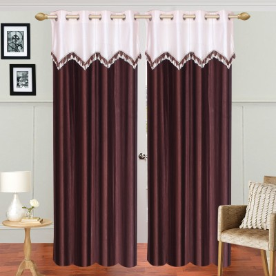 Dreamshomes Polyester Coffee Solid Rod pocket Door Curtain