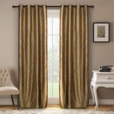 Soumya Polycotton Silver Plain Eyelet Window Curtain