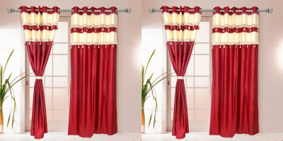 I Catch Blends Red Plain Curtain Door Curtain