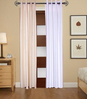 DOLLYH Polyester MULTICOLOUR Plain Eyelet Long Door Curtain