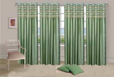 Ville Style Polyester Pista Solid Eyelet Door Curtain