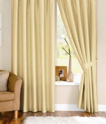 JTInternational Polyester Beige Geometric Eyelet Door Curtain