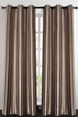 Deco Essential Polyester Mystique Plain Eyelet Door Curtain