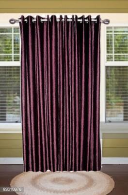 shoppeholics Polyester Voilet Plain Curtain Door Curtain