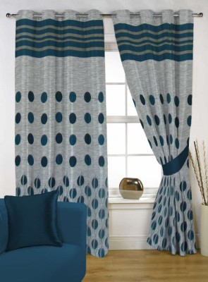 Handloom Factory Polycotton Multicolor Floral Eyelet Window Curtain