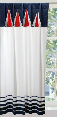 Pink Guppy Cotton Blue Solid Eyelet Window Curtain