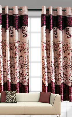 India Furnish Polyester Multicolor Printed Eyelet Door Curtain