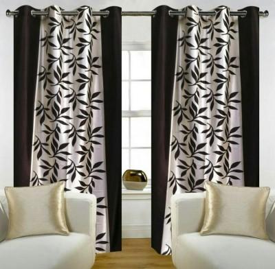 Z Decor Polycotton Black Floral Eyelet Window Curtain