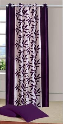 Azaan Decor Polyester Multicolor Floral Eyelet Door Curtain