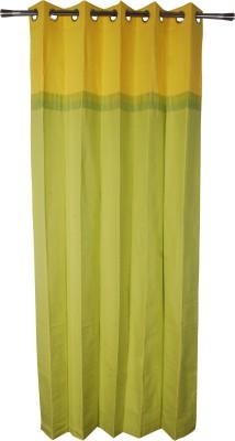 Rann Cotton Yellow Plain Curtain Window & Door Curtain