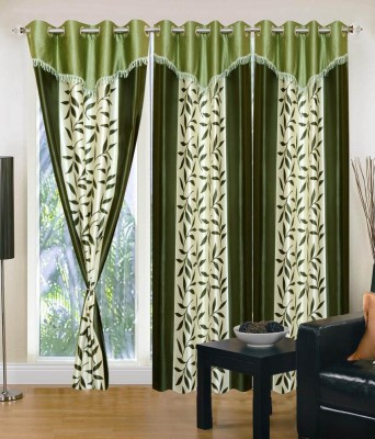 Home And Craft Polyester Silver Printed Eyelet Door Curtain