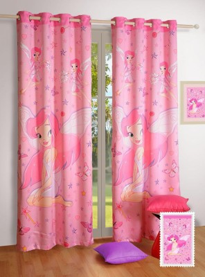 Swayam Cotton Multicolor Printed Eyelet Door Curtain