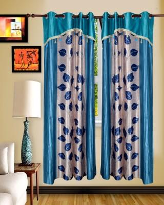 Maple Polyester Multicolor Floral Rod pocket Window & Door Curtain