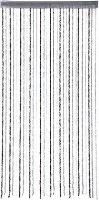 Ramcha Polyester Black Self Design Rod pocket Door Curtain