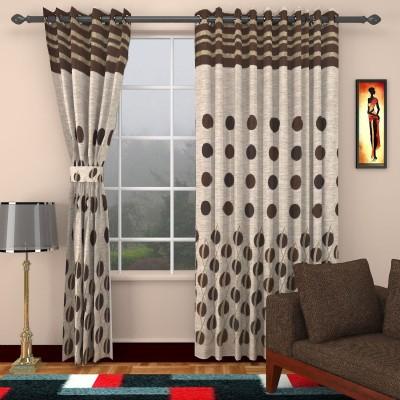 Jai Ganga Cotton Multicolor Floral Curtain Long Door Curtain