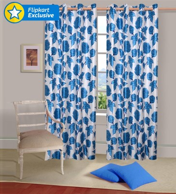 IWS Polyester Multicolor Abstract Eyelet Door Curtain
