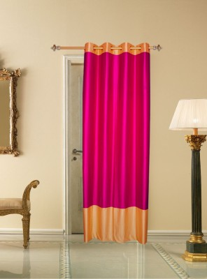 Batham Sales Blends Majenta Plain Eyelet Long Door Curtain