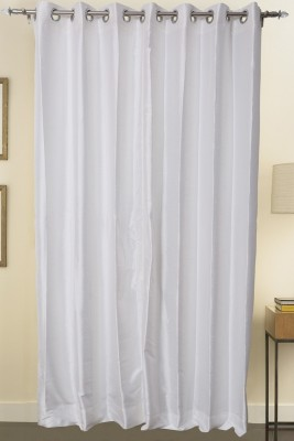 Blinds N curtains Polyester White Eyelet Long Door Curtain