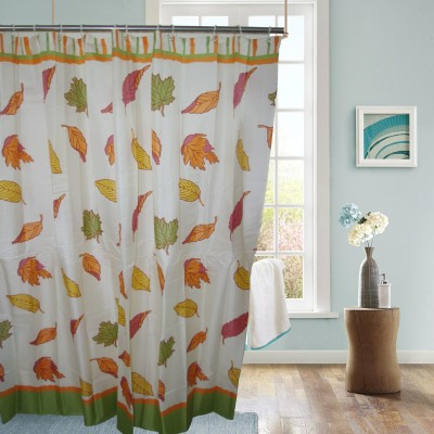 Gran Polyester Multicolor Abstract Ring Rod Shower Curtain