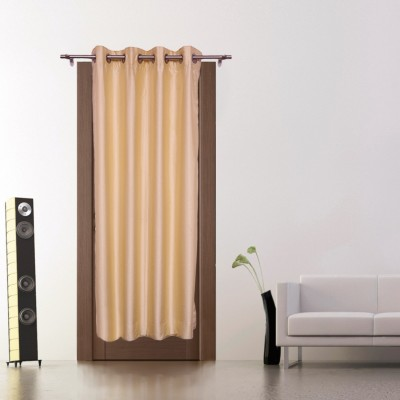Zappy Cart Polyester Golden Solid Curtain Door Curtain