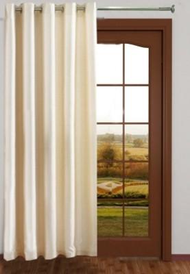 RedHot Polyester White Plain Eyelet Long Door Curtain