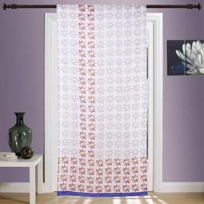 Myyra Cotton Multicolor Floral Rod pocket Window & Door Curtain