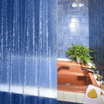 Freelance PVC White Printed Eyelet Shower Curtain