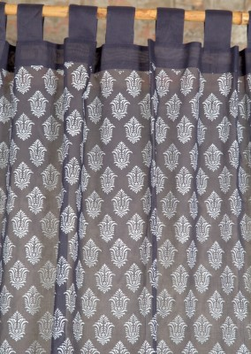 Ocean Homestore Cotton Blue Printed Curtain Door Curtain