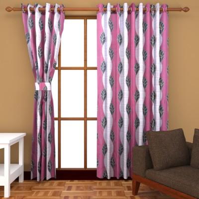 BSB Trendz Polyester Multicolor Abstract Eyelet Window & Door Curtain